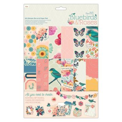 Papermania Bluebirds & Roses Designpapier - Ultimate Die-cut & Paper Pad